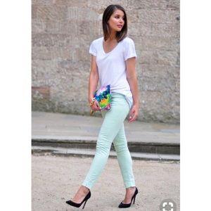 C Wonder Mint skinny stretch jeans